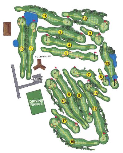 Eagle Crest Golf Course Map